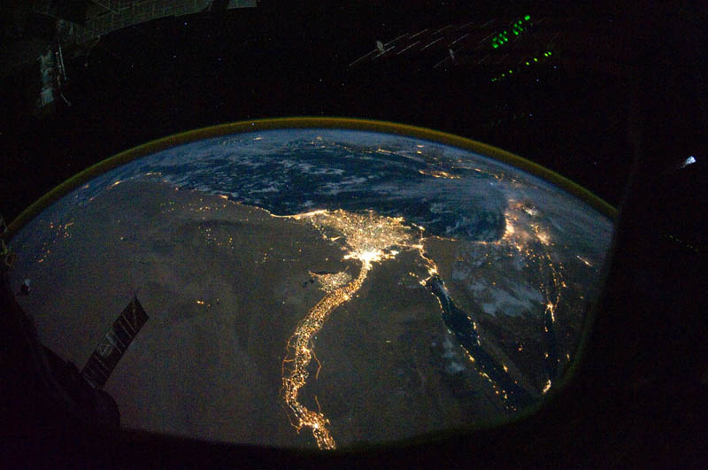 Cairo and Alexandria, Egypt at Night from Space /10/28/10